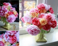 roses made from coffee filters by abigail