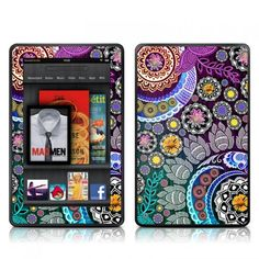 Doodles Color Valentina Ramos Kindle Fire HD fits 7 only Skin Kit/Decal