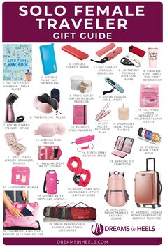 Most current Pic 27 Unique Travel Gifts for Women Traveling Solo Suggestions . Most current Pic 27 Unique Travel Gifts for Women Traveling Solo Suggestions … – – # Travel Essentials For Women, Road Trip Essentials, Packing Tips For Travel, Travel Checklist, Travelling Tips, Travel Hacks, Road Trip Packing, Travel Necessities, Travel Gadgets
