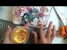 Scraps of Elegance Kit Club Create your Own Mini Album Tutorial Inka Gold, Mini Album Tutorial, Art Journal Inspiration, Video Tutorials, Mini Albums, Mousse, Stamping, Create Your Own, Scrap