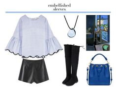 """""""Make a Statement: Embellished Sleeves"""" by french-fashion-addict ❤ liked on Polyvore"""
