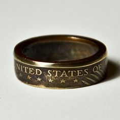 "The best ring of all @Paige Mills - Coin Ring - US - 1 Dollar ""Sacagawea Dollar"" - Size 8. $29.50, via Etsy."