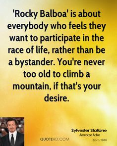 Rocky Balboa Quotes   Sylvester Stallone Quotes   QuoteHD