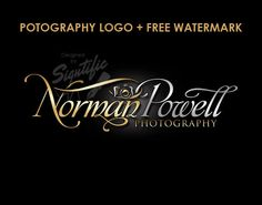 Elegant photography camera logo free watermark by SigntificDesigns Creative Logo, Photo Signature, Name Signature, Logo Design Services, Custom Logo Design, Custom Logos, Camera Logo, Order Business Cards, Business Logo