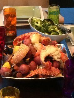 Stovetop Clambake - lobster, shrimp, clams, mussels, potatoes, corn ...