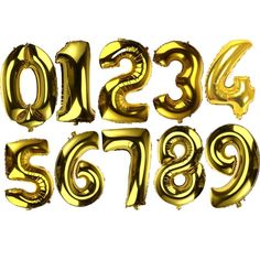 32 inch Foil Number Balloons