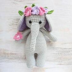 Cuddle Me Elephant Crochet Pattern - printable PDF