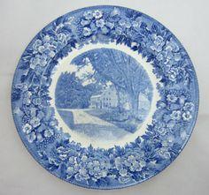 Vintage Wedgwood Longfellows Wayside Inn Blue and White Plate