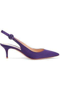 Gianvito Rossi - Satin Slingback Pumps - Dark purple - IT40.5