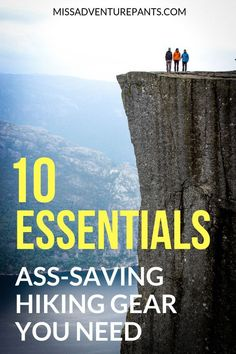 The 10 Essentials: Ass-Saving Hiking Gear You Need to Get Not sure what to pack in your hiking backpack? Take the 10 essentials of hiking gear on every trip so you can stay safe and survive in an emergency. Homestead Survival, Wilderness Survival, Survival Prepping, Survival Gear, Survival Skills, Survival Hacks, Survival Weapons, Camping Survival, Survival Quotes