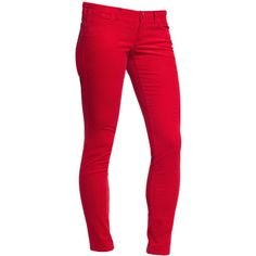 Women's Pop-Color The Rockstar Cords (Curry Red) ($33) ❤ liked on Polyvore featuring jeans, pants, bottoms, pantalons, skinny jeans, red, jeans/pants, pants/jeans, old navy and rocker