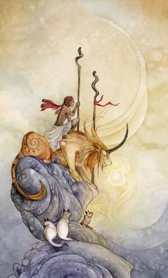 Two of Wands / Shadowscapes Tarot By: Stephanie Pui-Mun Law