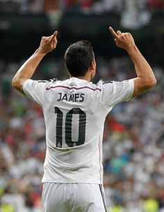 James Rodriguez scored his first goal for Real Madrid today against Atletico Madrid in the Super Copa