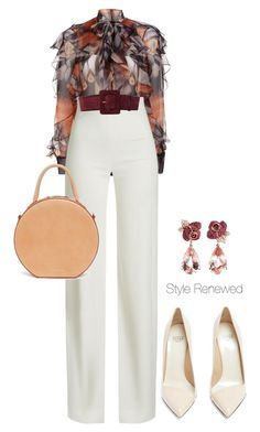 """Untitled #464"" by sherristylz on Polyvore featuring Givenchy, Brandon Maxwell, Francesco Russo, Yves Saint Laurent, Mansur Gavriel and Anyallerie"