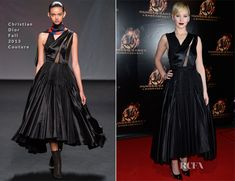 Jennifer Lawrence In Christian Dior Couture – 'The Hunger Games: Catching Fire' Paris Premiere
