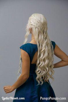 Daenerys Targaryen Costume Wig Long White Blonde by PungoPungo