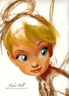 """ Tinker Bell Clearfile "" This was official merchandise, but I couldn't find who was the artist"
