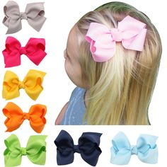 >> Click to Buy << 20 Colors 8cm Lovely hair Bow clip Cute Hair Clip Small bow knot hairpin Hair Accessories Hair ornaments  HC015 #Affiliate