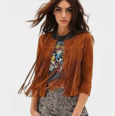 Fashion Fringed Leather Cardigan Jacket Women Slim Thin Long Sleeve Outwear Coat Plus Size Jaqueta Feminina