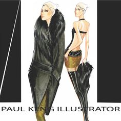 Fall 2015 RTW | Design & Illustration by Paul Keng