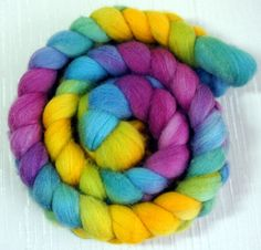 Polwarth Roving  Handpainted Fiber for by FashionTouchSupplies, $19.99
