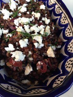 ENSALADA MEDITERRÁNEA DE LENTEJAS #lentils #salad #healthy #glutenfree #feta
