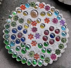 See a picture of a homemade stepping stone made by Noah and submitted by his grandma Betty.