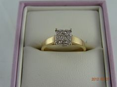 Gold Pre Loved 9ct Solid Yellow Gold 9Diamond Ring 3.2grms (eBay item 330745191590 end time 14-Jun-12 19:05:04 AEST) : Jewellery Watches