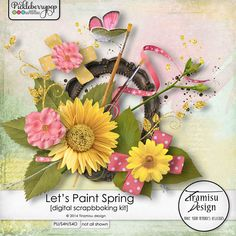 Available for just $1 during Pickleberrypop's PICKLE BARREL PROMO through March 24 at 11:59 p.m. EDT! Shop fast to save BIG! Let's Paint Spring elements pack by Tiramisu design