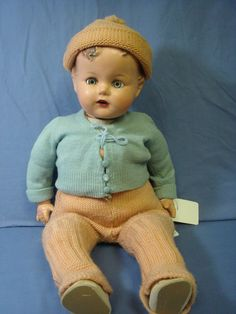"""EB- Vintage 20"""" Ideal Baby Beautful composition crier baby doll-boy? #DollswithClothingAccessories"""