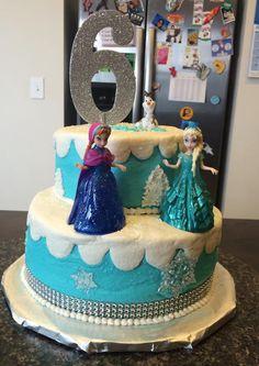 """""""Frozen"""" Tiered Cake"""