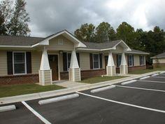 Duplex Housing Unit     Casa Bonita, Alabama Non-Profit Housing, Inc., Oneonta, AL.  By Aho Architects, LLC.  www.ahoarch.com