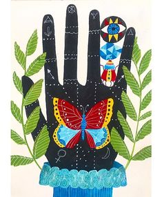 Hand by illustrator Lisa Congdon, 2017.