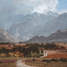 John Meyer is one of South Africa's leading contemporary realists. Born Meyer has put his indelible stamp on the genres of landscape, portraiture and narrative art. John Meyer, Landscape Art, Mount Everest, River, Mountains, Gallery, Landscapes, Paintings, Memories