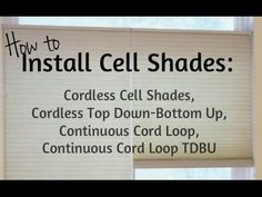 Install Honeycomb Shades, including Cordless Cell Shades and Continuous Cord Loop. Brought to you by Shades Shutters Blinds the window coverings experts. House Blinds, Blinds For Windows, Window Coverings, Window Treatments, Honeycomb Shades, Cellular Shades, Shades Blinds, Do It Yourself Projects, Shutters
