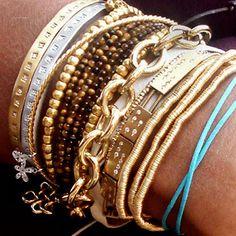 stacked bracelet baubles