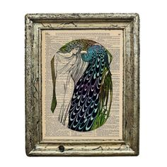 The Lady and the Peacock Art Deco Style 1920s Print by AvantPrint, $7.00