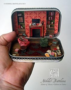 Pixie Hill: 221B Baker Street-this is so amazing. I dont even know what it is, other than Sherlock and Johns flat, but its so cool! - DIY Fairy Gardens