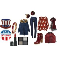 """True to the Red, White and Blue"" by martha-hill-carter on Polyvore"