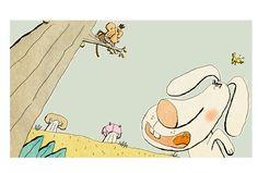 "Pagina uit ""Haas en Hyena""."