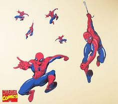 Landon's side of room    Would like to incorporate buildings for Spiderman to be swinging over with his webs    Spider-Man™ Decals #PotteryBarnKids