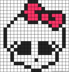 Monster High Skull perler bead pattern