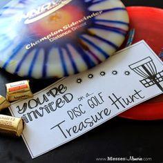 Disc golf date night treasure hunt!