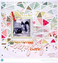 Silhouette America Blog | Everyday Moments Scrapbook Layout using Window Pane effect