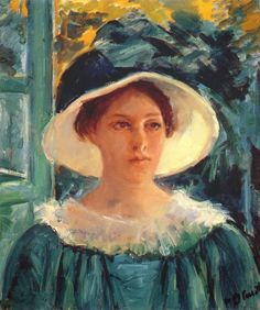 Mary Cassatt - Young Woman in Green, Outdoors in the Sun, 1914