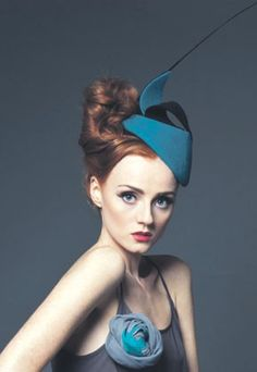 Martha Lynn headpiece with black quill.