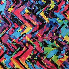 Neon Tie Dye 4-Way Stretch Print Fabric | For Swimwear, Athletic wear, Activewear, Yoga pants, Leggings | 84% Poly, 16% Spandex