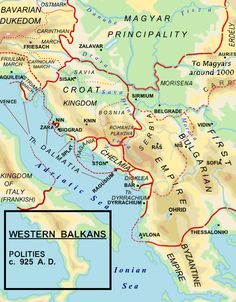 Western Balkans in 925 CE: Bulgarian Empire, Byzantine Empire, Chelmia, Duchy… European History, World History, Fake History, History Facts, American History, Old Maps, Bulgarian, Prehistory, Historical Maps