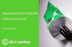 Creating sticky footer on your DIVI website – pure CSS solution