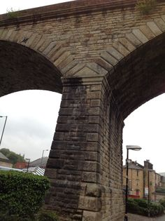 Impressive stonework and quoins on railway viaduct at Todmorden. Build by Robert Stephenson in 1840.